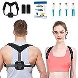 WOTEK Geradehalter zur Haltungskorrektur Rückenstütze Rückenbandage Haltungstrainer...