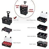XL Modular Wählbar Werkzeugtrolley, Werkstattkoffer Set, Werkstattwagen Set aus'Q-Brick' Serie mit...