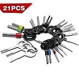 SAVITA 21 PCS Pin Extractor Tool Entriegelungswerkzeug Auspinn Werkzeug Handwerkzeug Set für Flach...