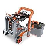 Smoby 360202 - Black + Decker 3-in-1 Multi-Werkbank mit Werkzeugkoffer