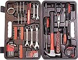 148-teiliges Werkzeugset, Allgemeines Haushaltswerkzeugset mit Aufbewahrungskoffer aus Kunststoff