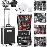 TRESKO Werkzeugkoffer 735 teilig | Werkzeugkasten | Werkzeugkiste | Werkzeugtasche | Werkzeug Set |...