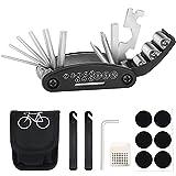 TBoonor Fahrrad-Multitool, 16-in-1 Fahrrad Werkzeug Multifunktionswerkzeug Fahrrad Reparatur Set...