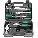 Jiaming Haushalts-Werkzeugkasten-Set, 10-teilig, klein, tragbares Mini-Werkzeug-Set,...