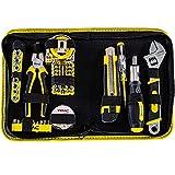 WMC TOOLS Werkzeugset klein 61 teilig Mini Werkzeug Tasche Werkzeugsatz in Mappe Universal und...