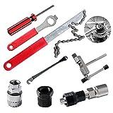 ECHOAN Fahrrad-Multitool, 8-in-1 Fahrrad Reparatur Werkzeug Sets, Fahrrad Kette Entfernungs...