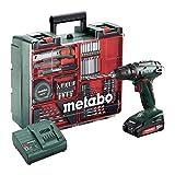 Metabo Akku-Bohrschrauber BS 18 Set (602207880) 18V 2x Li-Ion; Ladegerät SC 30; Kunststoffkoffer;...