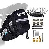 TBoonor Fahrrad Satteltasche mit 16 in 1 Werkzeuge Fahrrad Reparatur Set umfassen Fahhradtasche und...