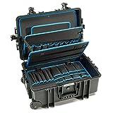 B&W Werkzeugkoffer JUMBO 6700 mobil mit Werkzeugeinsteckfächern (Koffer aus PP, Volumen 43,5l, 53,9...