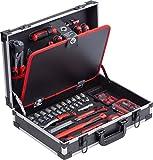 Meister Werkzeugkoffer 109-teilig - Stabiler Alu-Koffer - Werkzeug-Set - Für Haushalt, Garage &...