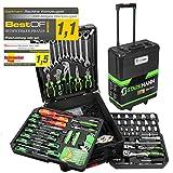 STARKMANN Blackline 399tlg. Premium Werkzeugkoffer Werkzeug Box Kasten im abschließbaren Alu...