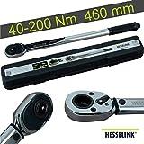 Hesselink DS-200 Drehmomentschlüssel 40-200 Nm I ideal für den Reifenwechsel/Räderwechsel am Auto...