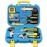 Jiaming Werkzeug-Set, Handwerkzeug-Kombi-Paket gemischt mit Hammer, Schraubenschlüssel,...