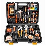 Jiaming Werkzeugset für Haushalt, Reparatur, gemischtes Werkzeug-Set, mit Kunststoff-Werkzeugkoffer...