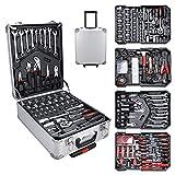 EINFEBEN Werkzeugkoffer gefüllt Set 1031-teilig, Werkzeugkasten Werkzeugkiste Werkzeug, robust und...