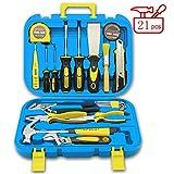 Jiaming Haushalts-Werkzeugkasten-Set, Handwerkzeug-Kombi-Paket mit Hammer, Schraubenschlüssel,...