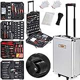 Monzana Werkzeugkoffer XXL gefüllt Set 899tlg Heimwerker Werkzeugkasten Werkzeugkiste...