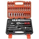 Jiaming Werkzeug-Set, 53-teiliges Steckschlüssel-Set, Haushaltswerkzeug-Set mit Werkzeugkoffer für...
