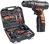 AWANFI Werkzeugkoffer mit Akkuschrauber 35PCs Handwerkzeuge Kit mit Bohrschrauber Werkzeugset 16.8 V...