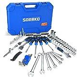 97 tlg. Werkzeugkoffer Gefüllt, SORAKO Werkzeug inkl. Schlüssel, Schraubendreher, Steckschlüssel,...