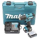 Makita DF333DSAE Akku-Bohrschrauber 12 V max. / 2,0 Ah, 2 Akkus + Ladegerät im Transportkoffer,...