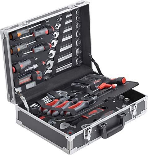 Connex Werkzeugkoffer 116-teilig - Stabiler Alu-Koffer - Werkzeug-Set - Für Haushalt, Garage &...