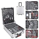 Hengda Werkzeugkoffer 1031 teilig Alu Werkzeugkasten Werkzeugkiste gefüllt Set abschließbar...