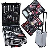 Werkzeugkoffer Optimus Action 1059-Teilig - Universal Werkzeugset - Aluminium Profi Werkzeugtrolley...